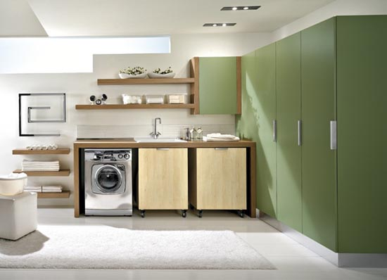 Modern Laundry Room Storage Cabinets