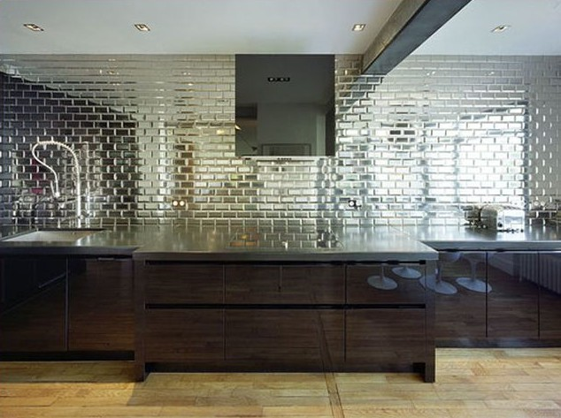 Mosaic Mirrored Backsplash Tile Pictures