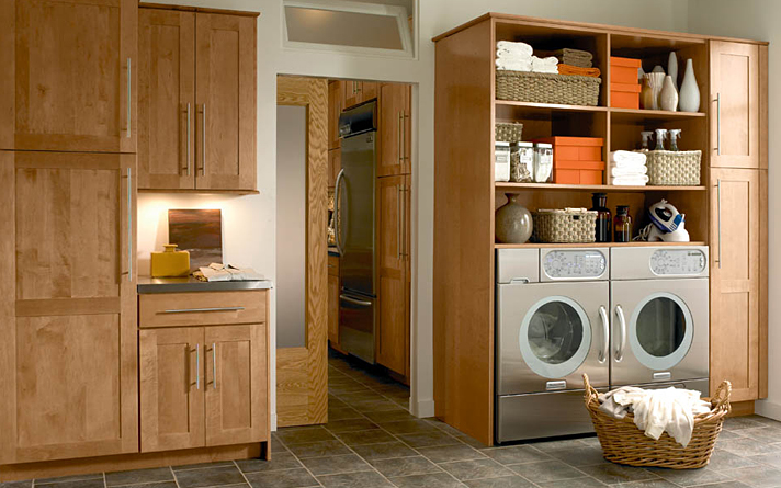 Wooden Laundry Room Storage Cabinets