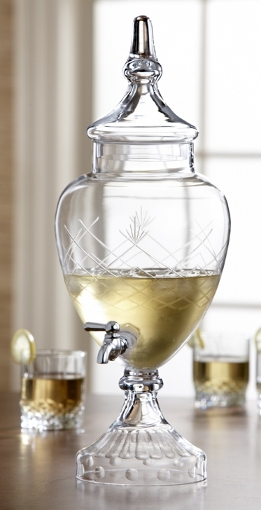 Amazing Glass Drinks Dispenser  With Spigot Slim Design Images