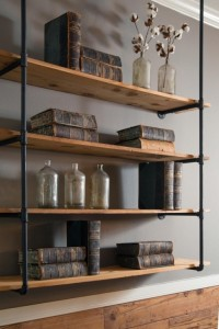 Amazing Modern Rustic Shelving For Living Room Rustic Shelving Units Pic