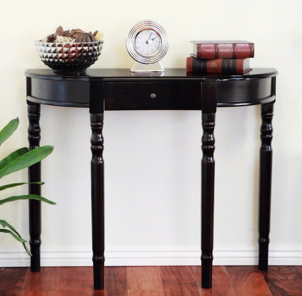 Attractive Small Entry Table Small Round Foyer Table Pictures