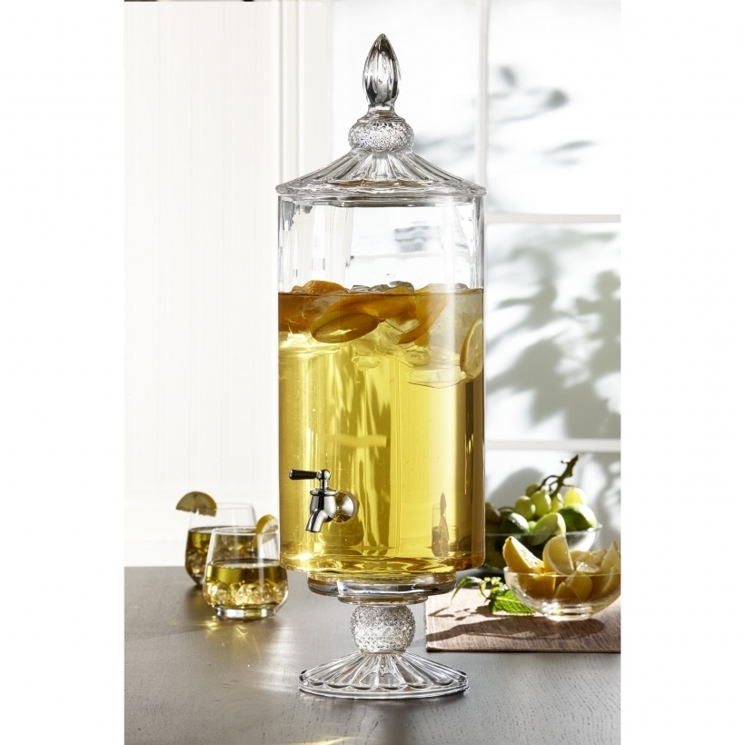Beautiful Glass Drinks Dispenser With Spigot Westchester Decorative Glass Beverage Dispenser Photos