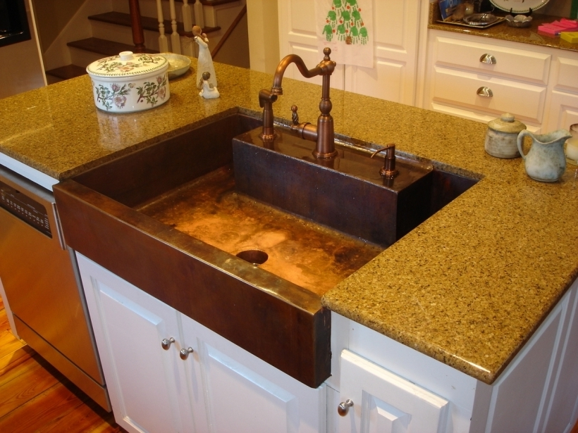 Copper Kitchen Sinks Amazing Copper Kitchen Sink Home Design Ideas Wi