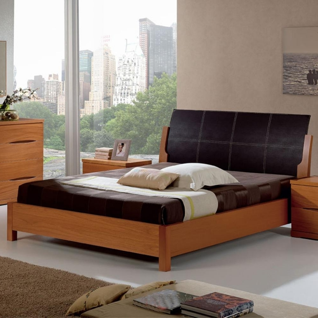 Comfy Wood Headboard Designs For Bedroom Design With Cherry Wood Bed Frame Photos