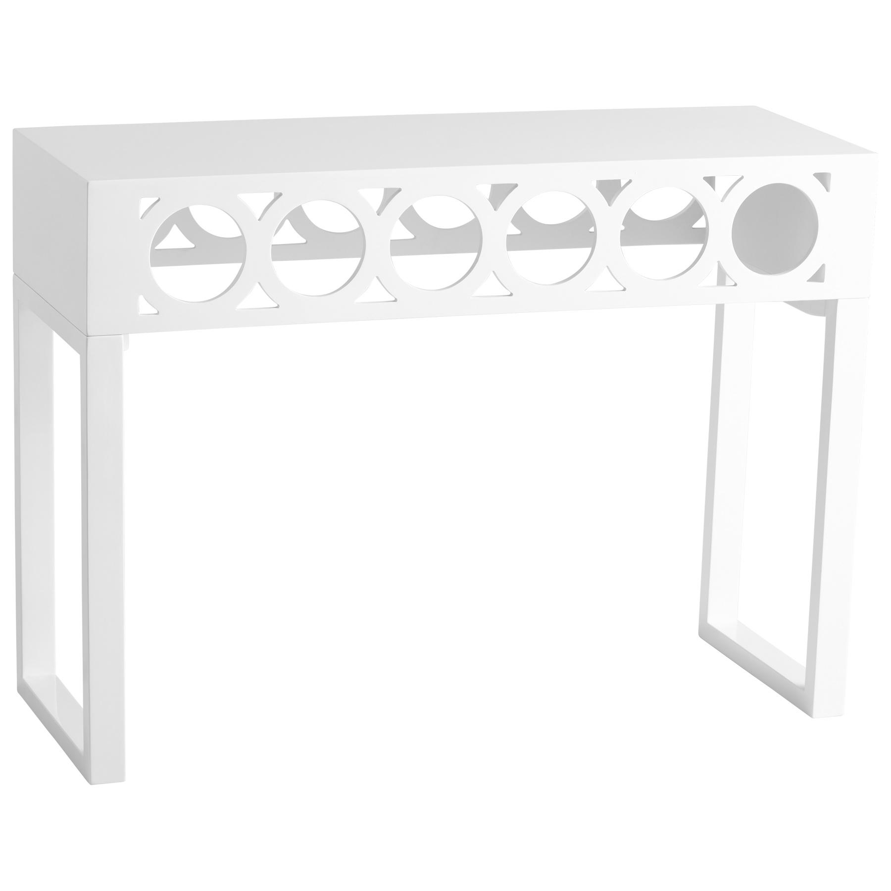 Cozy White Lacquer Console Table In Balbo Console Table Cyan Design