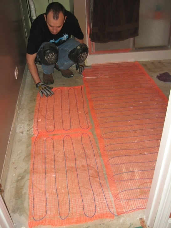 Excellent Heated Bathroom Floors Heated Floor Tile System In A Basement Bathroom