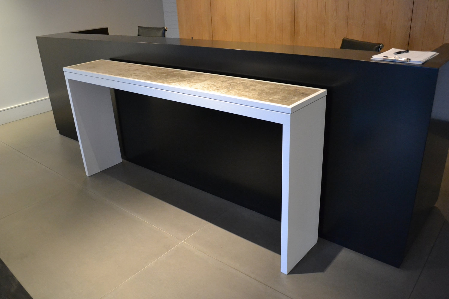 Excellent White Lacquer Console Table Regarding Concrete And Decoratelier