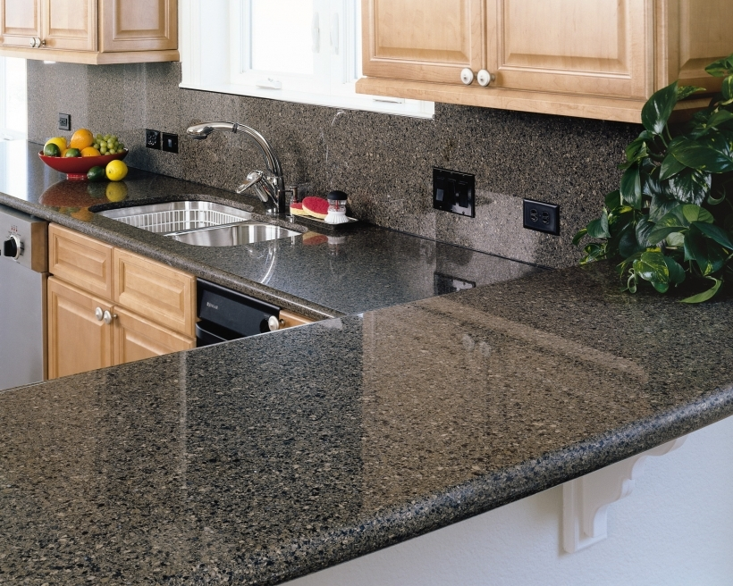Black quartz countertops hard keep clean home interior Cork countertops