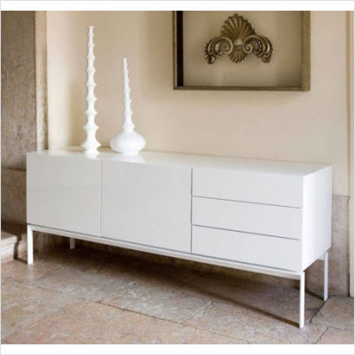 Fantastic White Lacquer Console Table In White Lacquer Media On Home Design Ideas