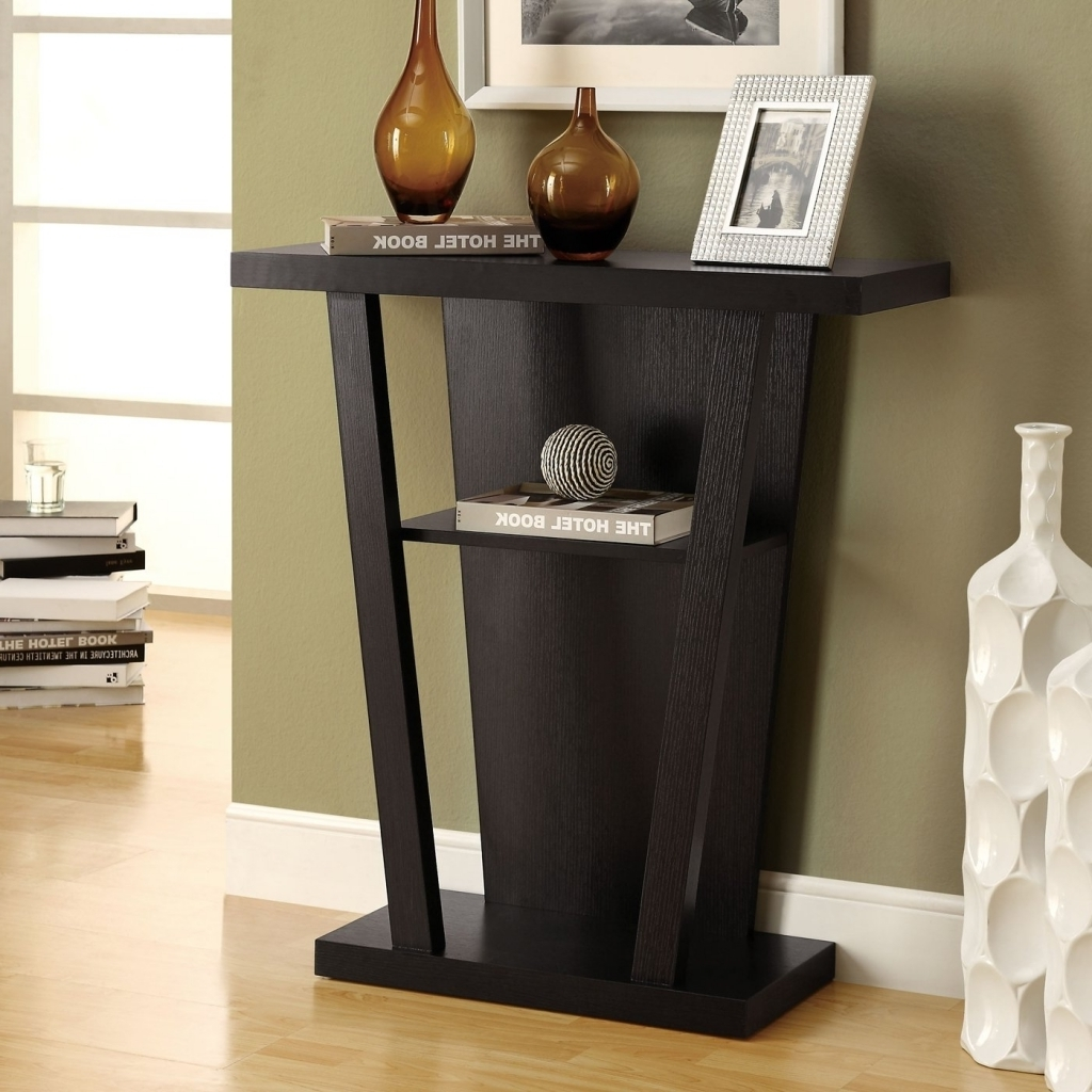 Small Black Foyer Table : Extraordinary small entry table divine tall round
