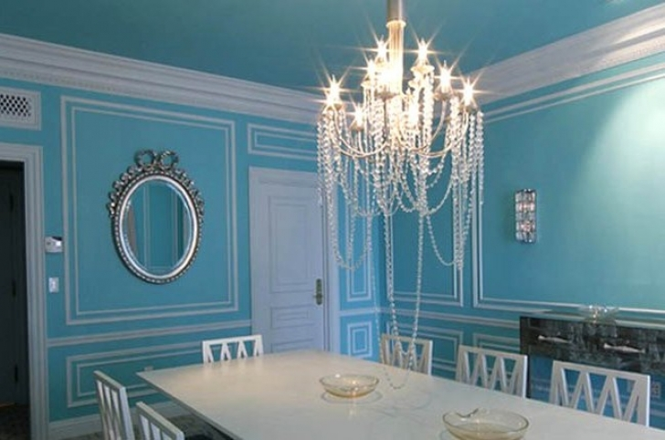 Marvelous Tiffany Blue Paint Color In Luxurious Chandeliers Color Match Pics