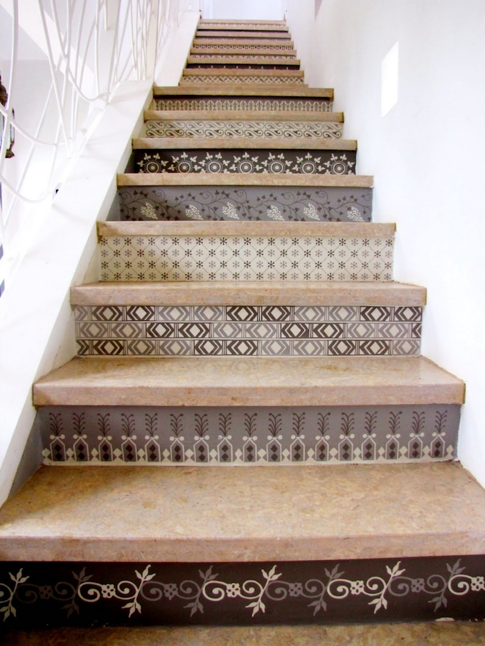 Tile Stair Risers Spanish Style Pictures