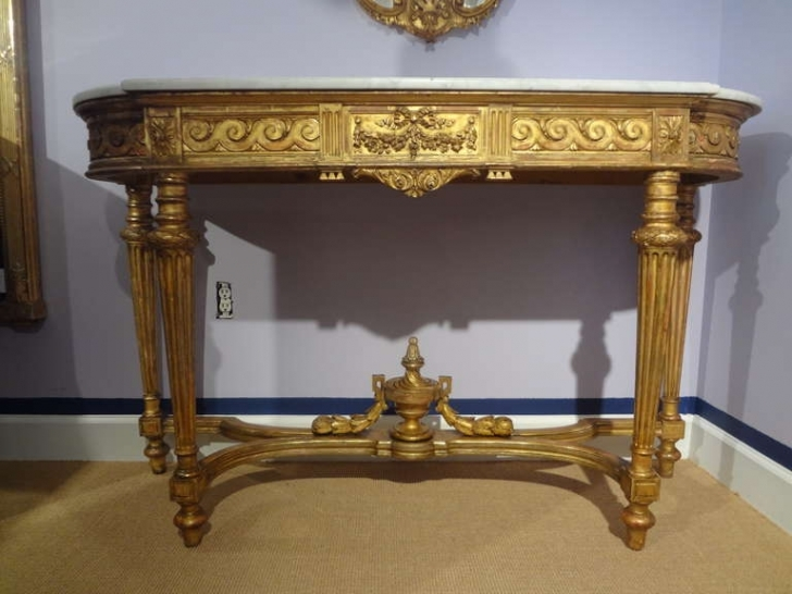 Amazing Console Table French Style Inside 19th Century French Louis Xvi Images