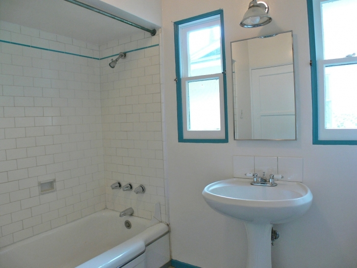 Amazing Small Bathroom Remodeling Subway Tile Regarding Double Hung Window And White Ceramic Sink Photos