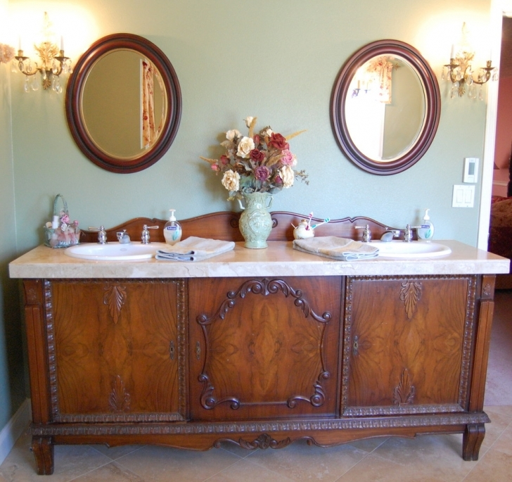 Antique Dry Sink Vanity Within Antique Mahogany Vanity Decorating Ideas  Photo - Home Interior Design Ideas