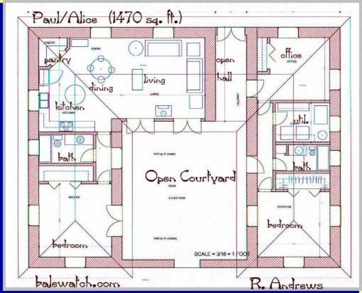 Brilliant U Shaped Home Plans Regarding Courtyards House Plans And Floor Plans Pictures
