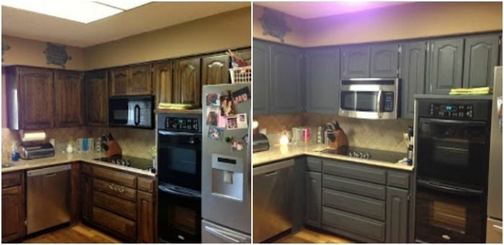 Chalk Paint Kitchen Cabinets Inside Painting Kitchen Cupboard Doors Before And After Picture Gallay Photo