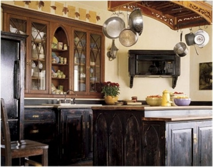 Chalk Paint Kitchen Cabinets With Kitchen Cabinet Design Image