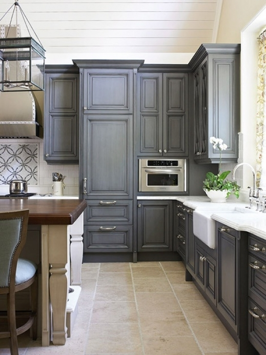Chalk Paint Kitchen Cabinets With Using Chalk Paint To Refinish Kitchen Cabinets Photos