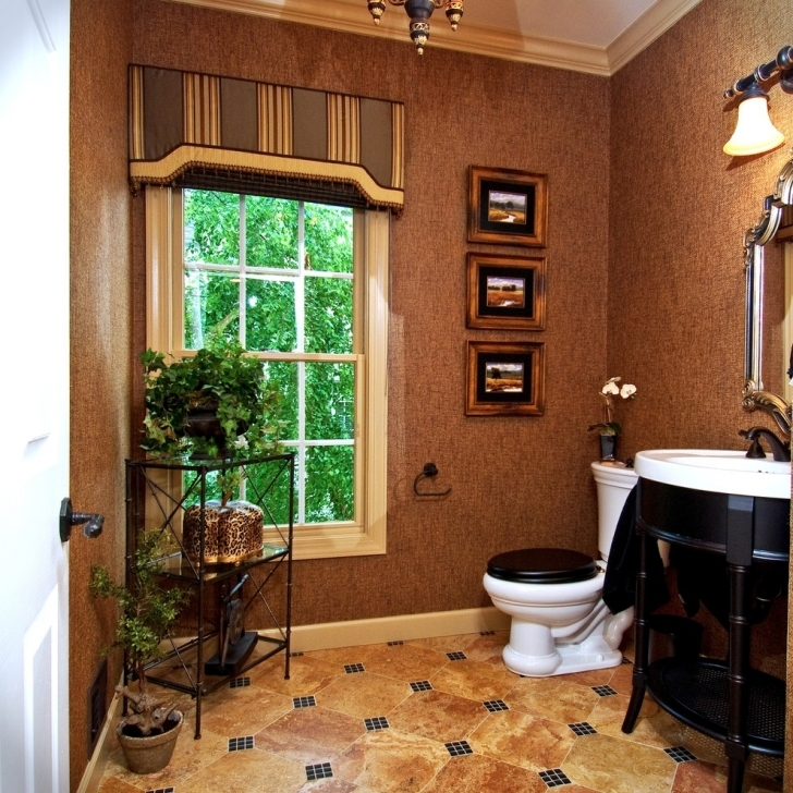 Cornice Board Ideas Regarding Cozy Decorating Ideas For Powder Room Traditional Design Pic
