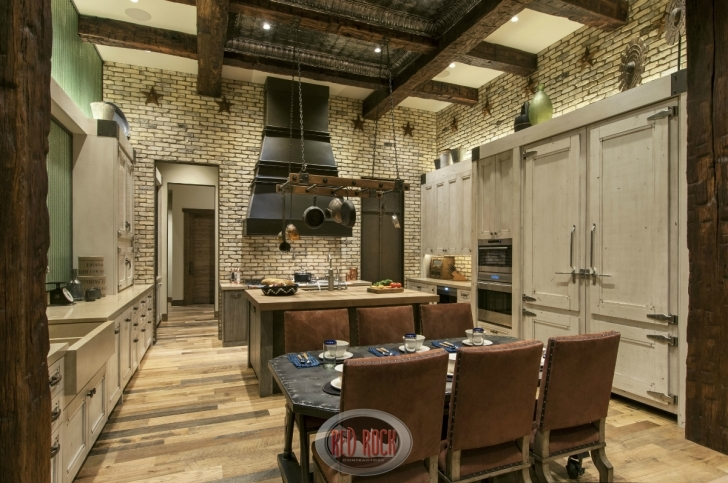 Custom Kitchen Cabinets In Brilliant Custom Rustic Kitchen Cabinets Jaw Dropping Rustic Interior Design Photos