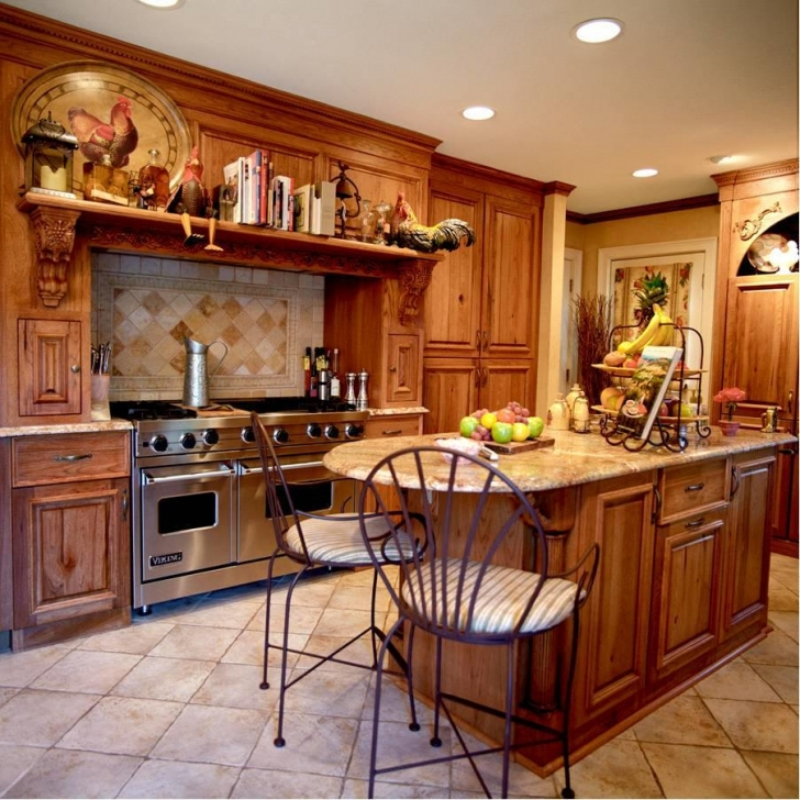 Custom Kitchen Cabinets Throughout Gorgeous Country Style  Pics