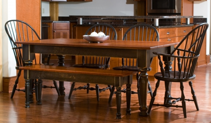 Dark Wood Kitchen Table With Regard To  Elegant Dark Brown Varnished Pic