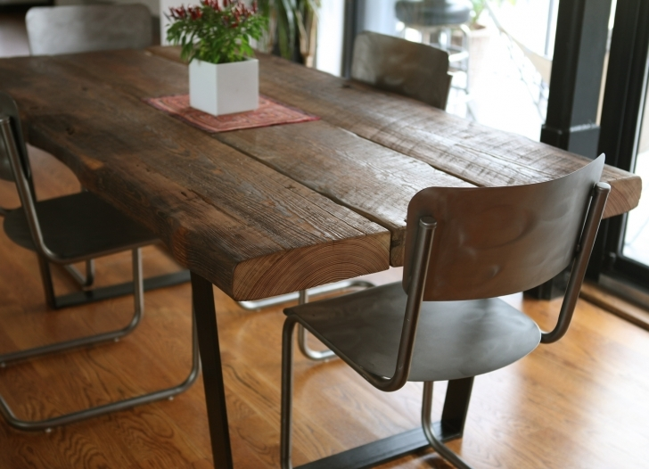 Dark Wood Kitchen Table With Regard To Vintage Rectangle Mahogany With Solid Dark Metal Chairs Images