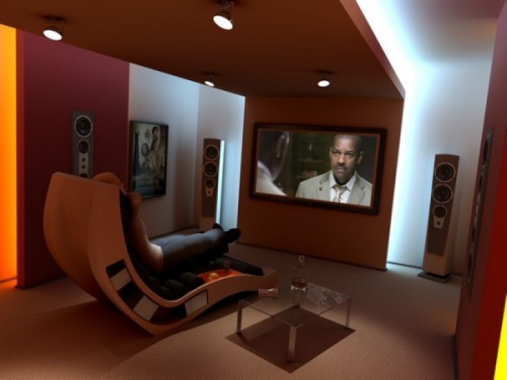 Delightful Home Theater Seating Design Ideas With Regard To Modern Style And Space Saving Furniture For Small Room Picture