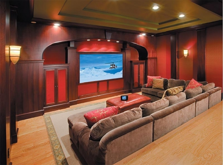 Delightful Home Theater Seating Design Ideas Within Brown Design Ideas Photos