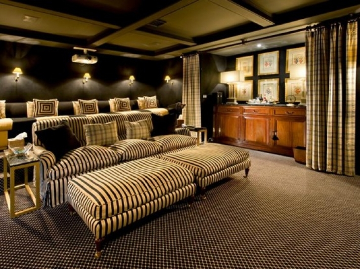 Delightful Home Theater Seating Ideas With Regard To Glamorous Interior Decorating Ideas Image