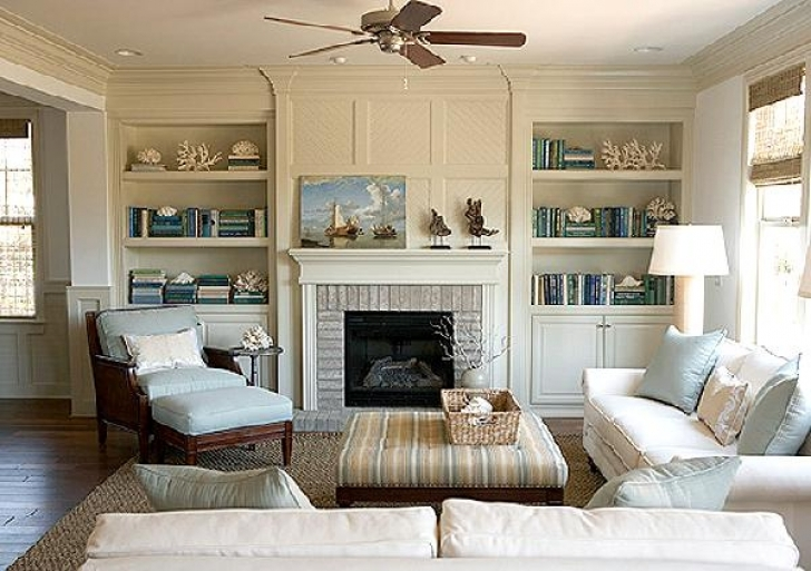 Fantastic built in bookshelves around fireplace with Living room cupboards designs