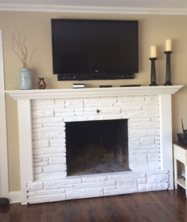 Faux Painting Brick Fireplaces After Finish Pics