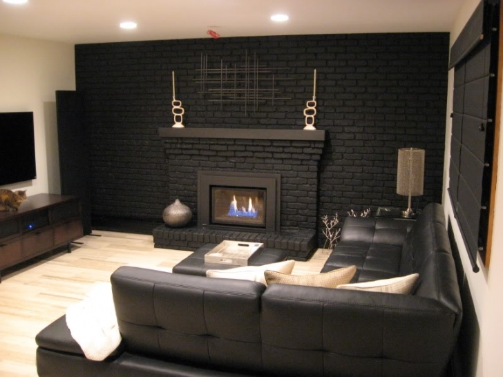 Faux Painting Brick Fireplaces Home Interior Images