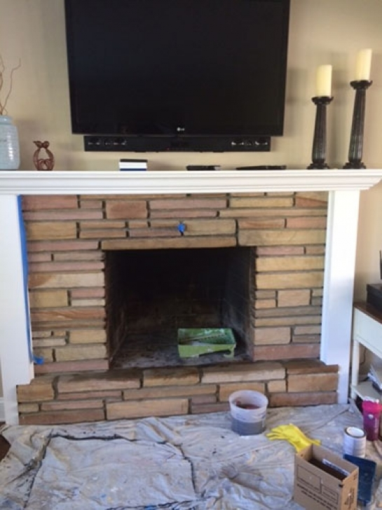 Faux Painting Brick Fireplaces In Monmouth County Pictures