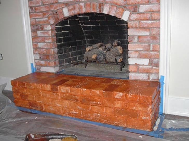 Faux Painting Brick Fireplaces Red Photo