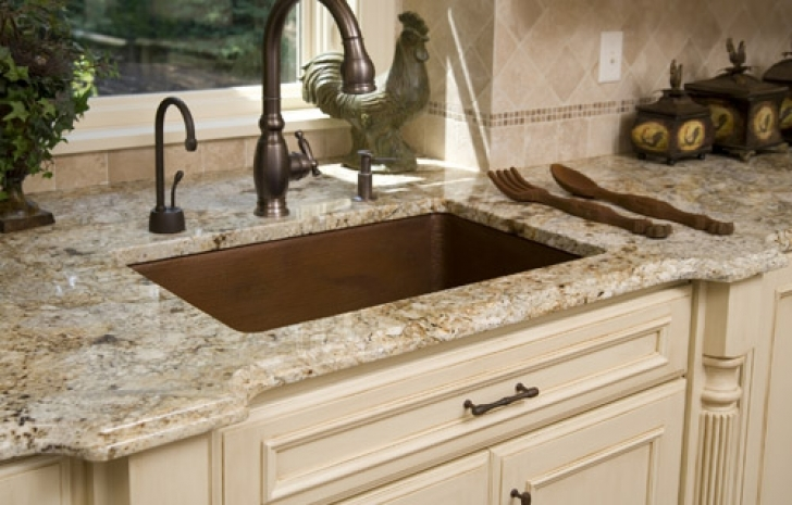 Golden Crystal Granite Countertops Ideas 4365