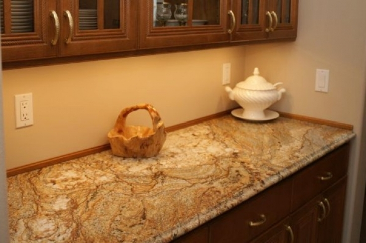Golden Crystal Granite Countertops Kitchen Cabinet Decoration 6317