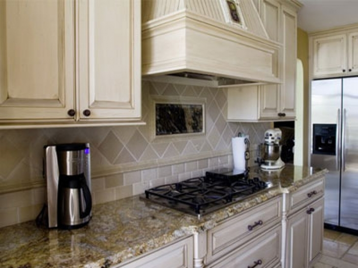 Golden Crystal Granite Countertops White Kitchen 4258