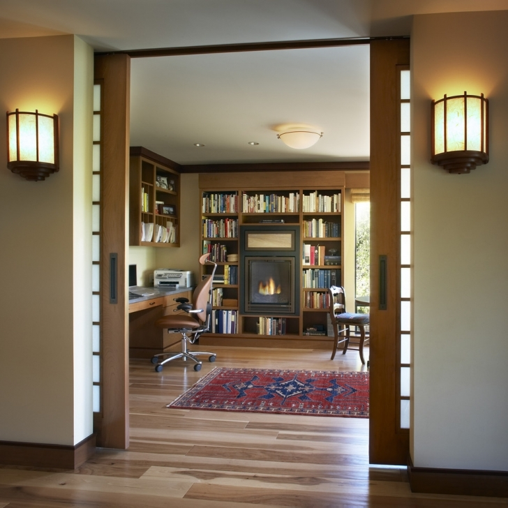 Home Hardware Decorating Ideas Throughout  White Wooden Japanese Wall Sconces Using Large Solid Oak Wood