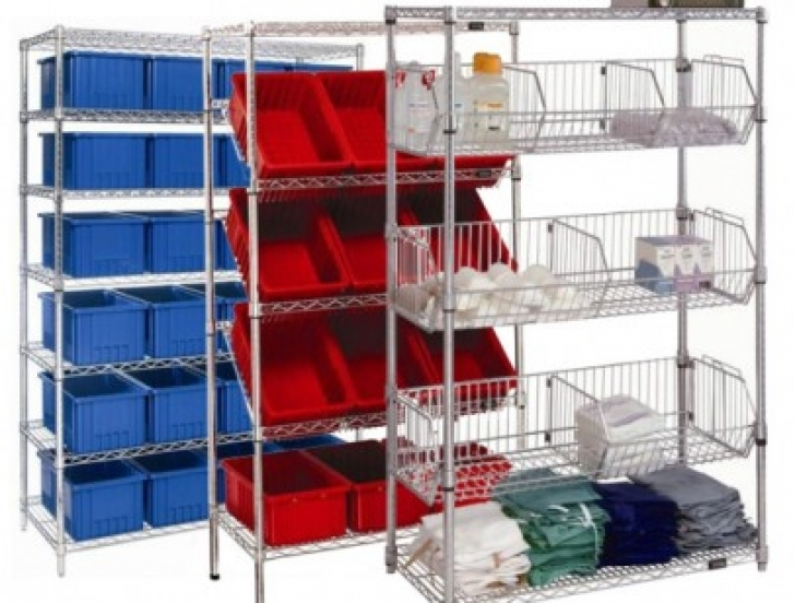 Wire Shelving Units for Closets with Furniture Storage Images