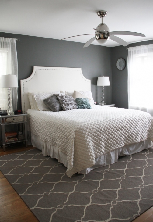 Incredible Beautiful Small Master Bedroom In Luxury White Beds And White Bedcover Gray Carpet Patterned Pics