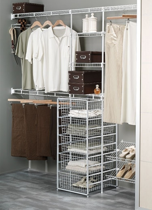 Wire Shelving Units for Closets Inside Wardrobe Organisation Laundry Pic