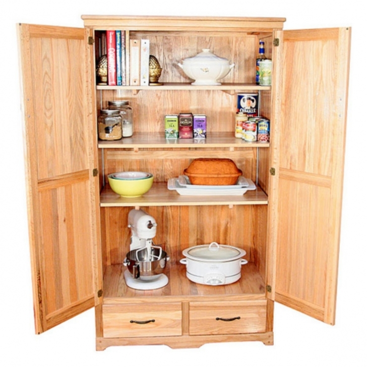 Kitchen Pantry Cabinet Ideas Throughout Free Standing Kitchen Pantry Home Depot Images