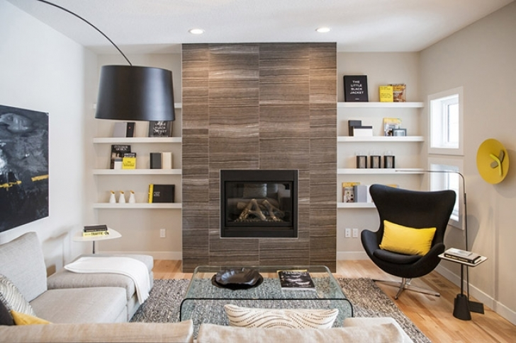 Marvelous Built In Bookshelves Around Fireplace Inside Bright Ideas For Incorporating Open Shelves Pictures