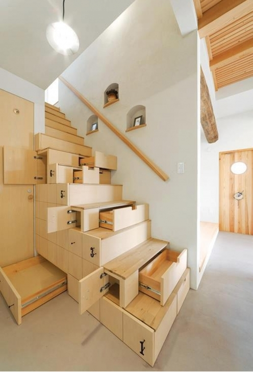 Oak Staircase Design Modern Oak Unfinished Stairs With Storage Under Stairs Photos