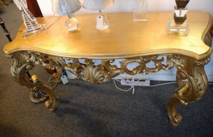 Stunning Console Table French Style Within French Rococo Style Console Table Top Picture