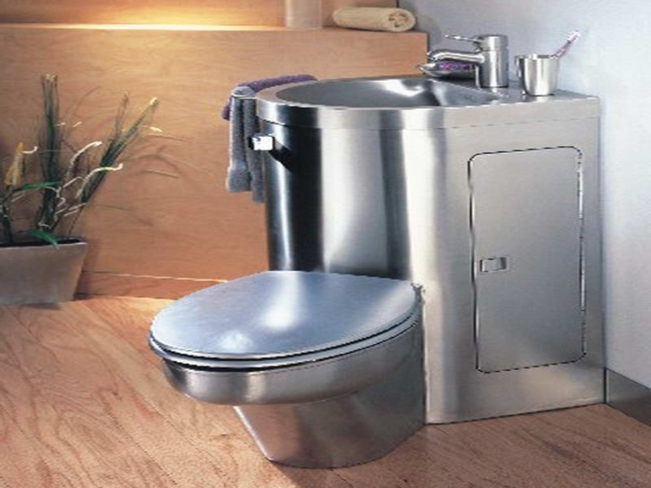 Toilet Sink Combo With Alumunium Photos