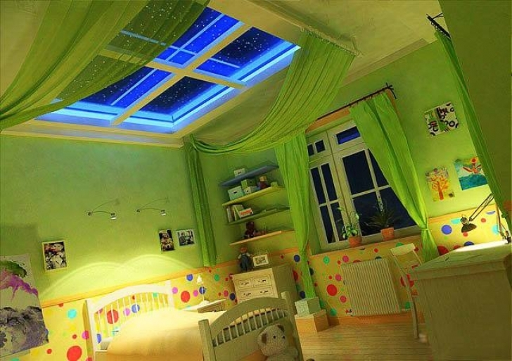 Wall Art Matters Most In Interior Design With Attractive Original Childrens Bedroom Ideas Green Color Images